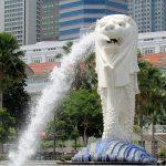 Tượng Sư Tử biển - biểu tượng Đảo quốc Singapore - Tour Tết Nguyên Đán 2019
