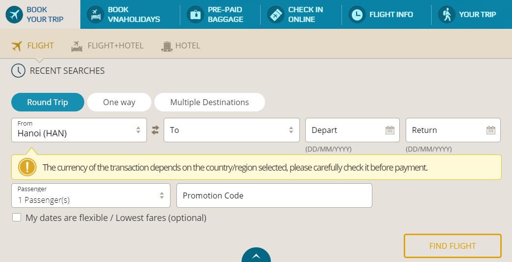 Book your trip - Cách đặt vé máy bay thanh toán sau