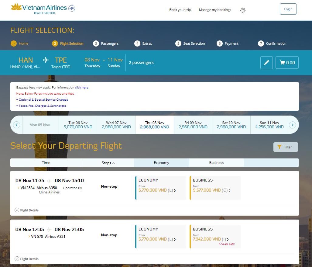 Danh sách chuyến đi - Cách đặt vé máy bay thanh toán sau
