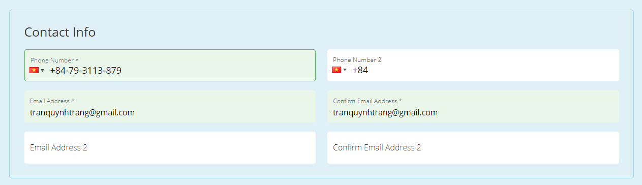 Thông tin liên lạc - Cách đặt vé máy bay thanh toán sau