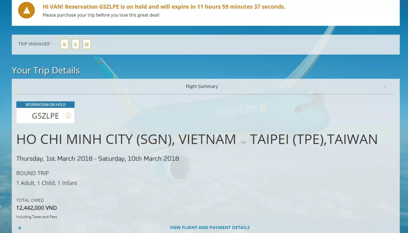 Xác nhận booking - Cách đặt vé máy bay thanh toán sau