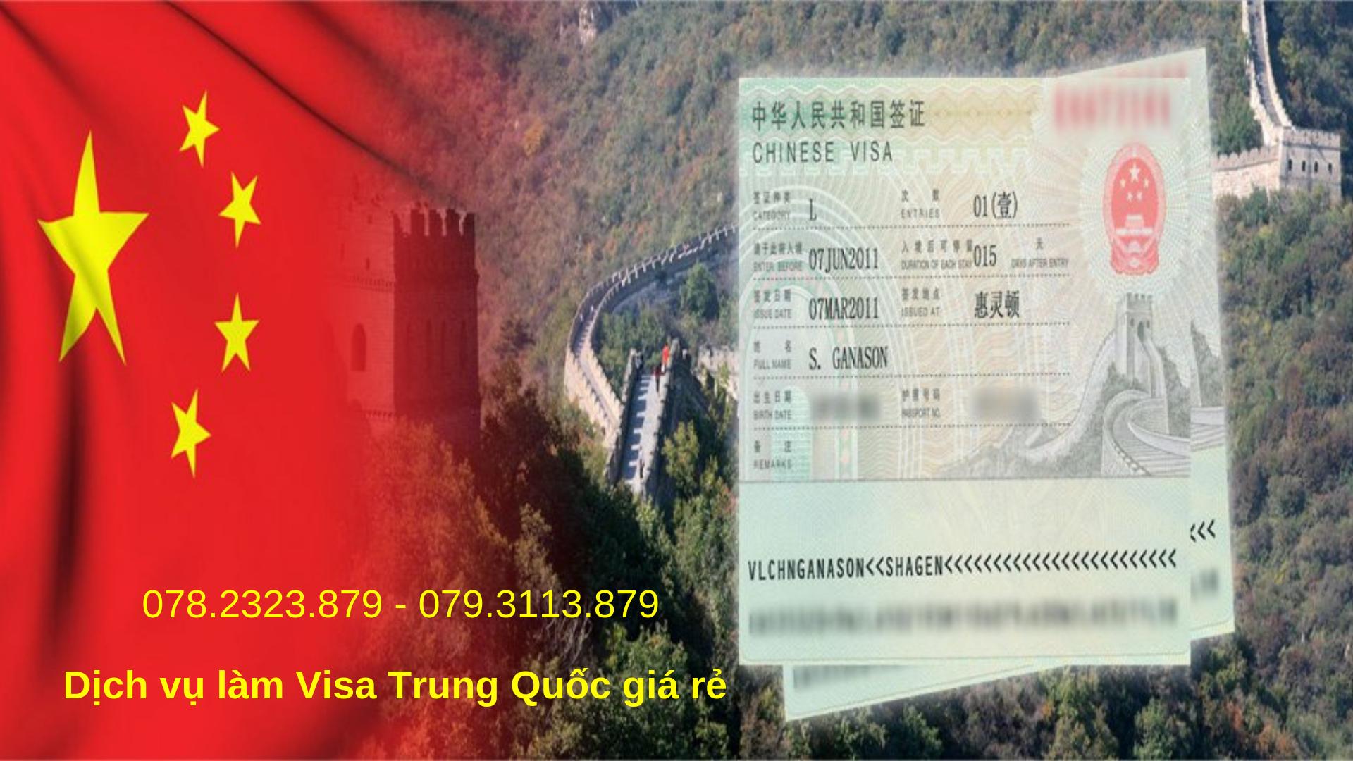 Dịch vụ làm visa Trung Quốc nhanh, gọn, giá rẻ