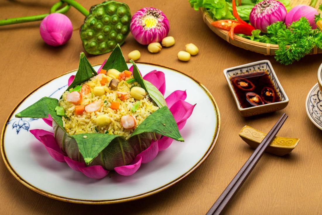 Món ăn làm từ hoa