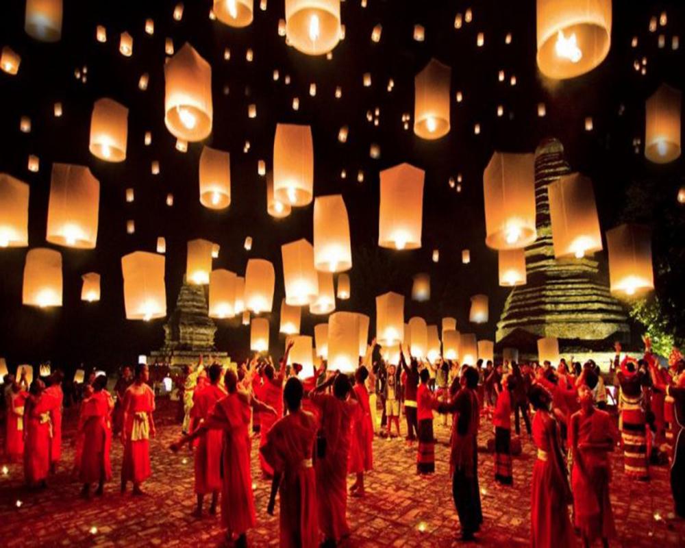 lễ hội thả đèn trời lớn nhất Châu Á