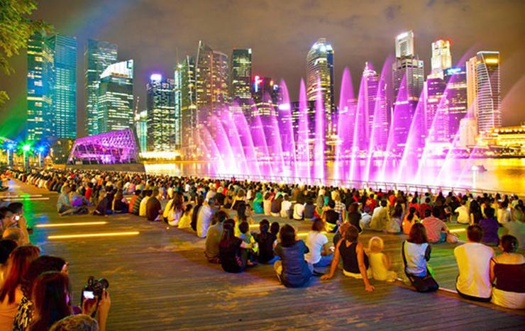 Kinh nghiệm xem show nhạc nước Marina Bay Sands