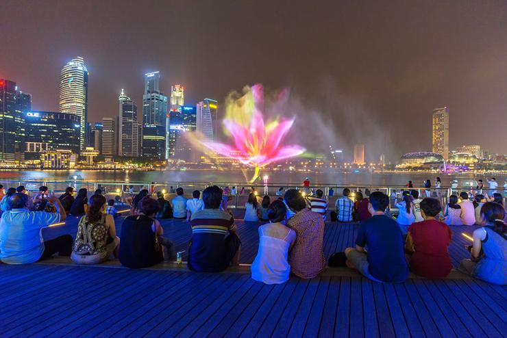 show nhạc nước Marina Bay Sands