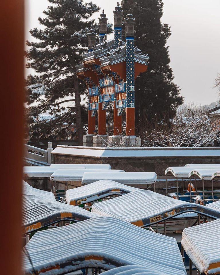 Mùa tuyết rơi ở Di Hòa Viên, Bắc Kinh mang vẻ đẹp kỳ bí